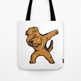 Funny Dabbing Airedale Terrier Dog Dab Dance Tote Bag