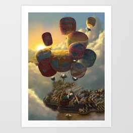 Way Up High Art Print