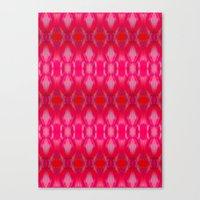 ikat Canvas Prints featuring Ikat by Amy Sia