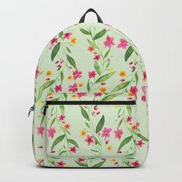 Granny Vine Floral Light Green Backpack