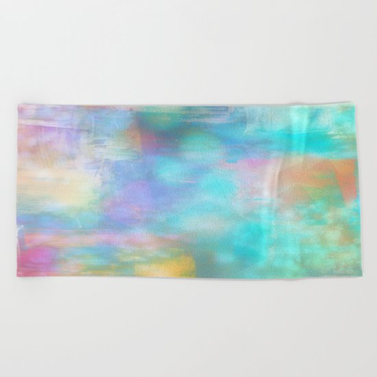 Morning Sky Abstract Beach Towel