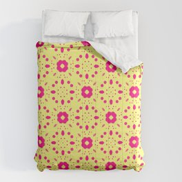 Bold Bloom | No. 5 | Floral Repeat Pattern Comforters