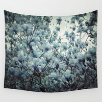 Magnolia Blues Wall Tapestry