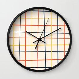 simple grid pattern Wall Clock