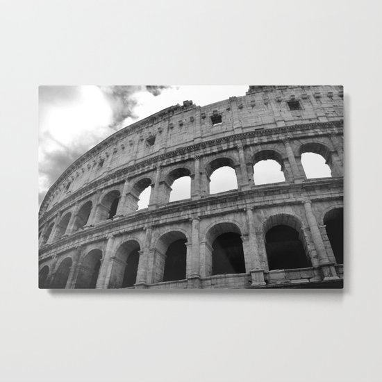 The Colosseum, Rome, Italy. Metal Print