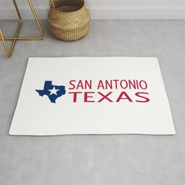 Texas: San Antonio (State Shape & Star) Rug