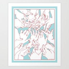 Helping Hands Art Print