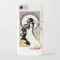 art nouveau iPhone & iPod Cases featuring Art Nouveau by Alexandra Banti