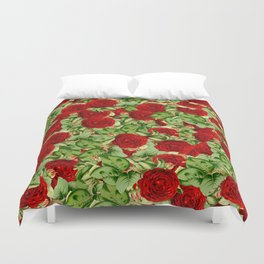 Painting the Roses Red Duvet Cover