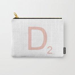 Pink Scrabble Letter D - Scrabble Tile Art Carry-All Pouch