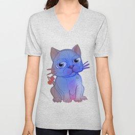 My Purple Vanda Cat Pet Unisex V-Neck