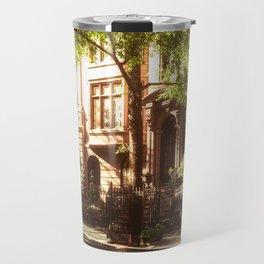 New York City Brownstones Travel Mug