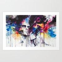la Art Prints featuring la nostra infinita abnegazione  by agnes-cecile
