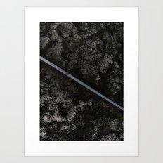 Volcanic Road Art Print