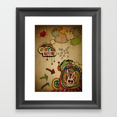 Just Love! Framed Art Print