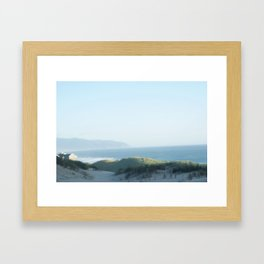 The Softest Kind of Coastline Framed Art Print