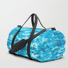 blue water psychedelic painting abstract Duffle Bag