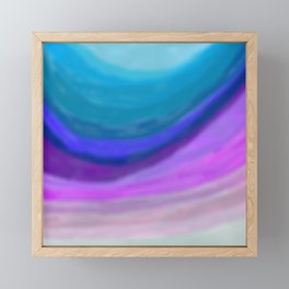 A sea of blue and purple Framed Mini Art Print