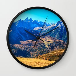 Autumn trekking in the alpine Pusteria valley Wall Clock