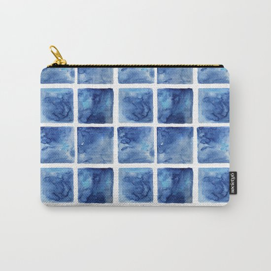 Watercolor mosaic Carry-All Pouch