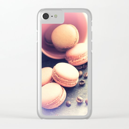 Sweet Cake with coffee beans Clear iPhone Case