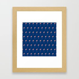 Midnight Flamingo Framed Art Print