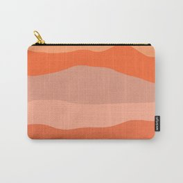 Nearby Hills Minimalist Abstract in Apricot Carry-All Pouch