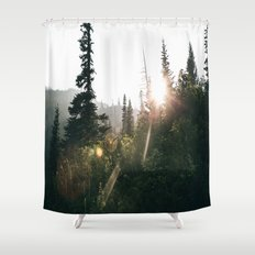 Sunny Forest II Shower Curtain