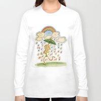 rain Long Sleeve T-shirts featuring Rain by José Luis Guerrero