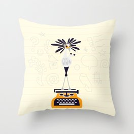 Secretary Bird - v1 Throw Pillow