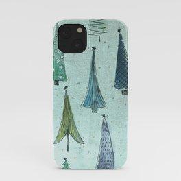 MidCentury Christmas Trees 1.0 iPhone Case