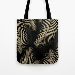 Palm Leaves - Gold Cali Vibes #4 #tropical #decor #art #society6 Tote Bag