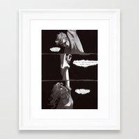 burdge Framed Art Prints featuring A one-way trip by Burdge
