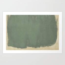 Minimal Abstract Green Colorfield Painting 01 Art Print