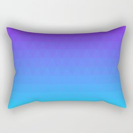 Blue and Purple Ombre - Flipped Rectangular Pillow