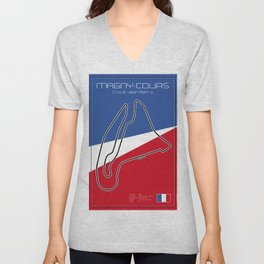 Magny Cours Racetrack  Unisex V-Neck