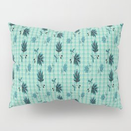 country blue flowers pattern Pillow Sham