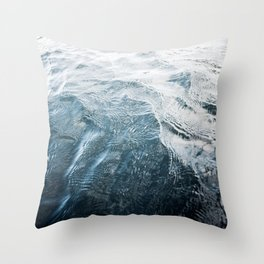 Blue Water   Landscape Photography   Blue   Ocean   Sea   Waves   Beach   Moody  Travel   Water  Throw Pillow