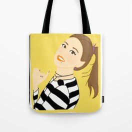 Knock Knock! Chaeyoung Yellow Tote Bag