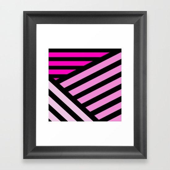 STRIPED {PINK} Framed Art Print