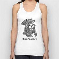 jack sparrow Tank Tops featuring Captain Jack Sparrow by christoph_loves_drawing
