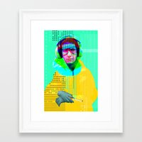 beastie boys Framed Art Prints featuring Gioconda Music Project · Beastie Boys · Mike D. by Marko Köppe
