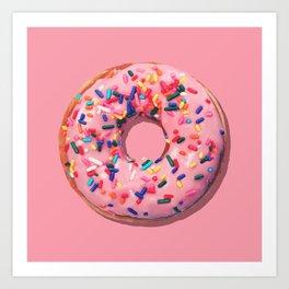 Pink Donut Kunstdrucke