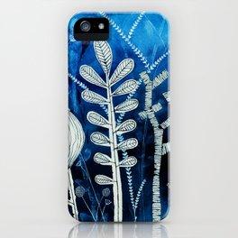 Secret Indigo Garden iPhone Case