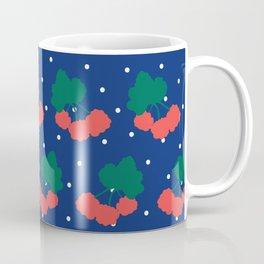 Swedish Cloudberries in Blue + White Polka Dot Coffee Mug