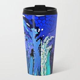 TREE ABSTRACT BLUE COBALT Travel Mug
