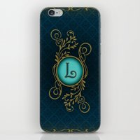 monogram iPhone & iPod Skins featuring Monogram L by Britta Glodde