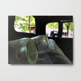 mason jar moonshine Metal Print