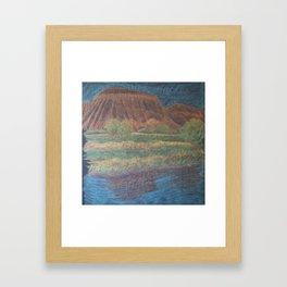 Mt. Garfield and Reflection Framed Art Print