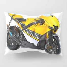 Motor cycle llustration color isolated art Pillow Sham